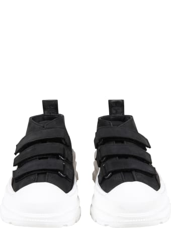 Gallucci Black Sneakers For Kids With Logo