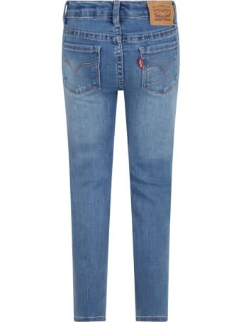 Levi's Light Blue ''710'' Jeans For Girl