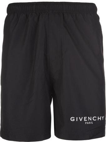 Givenchy Logo Print Swimming Trunks