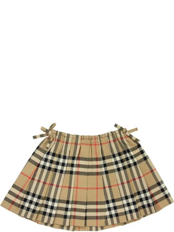 Burberry Mini Pearly - Vintage Check Cotton Pleated Skirt