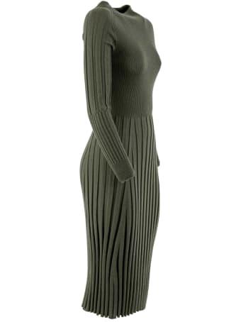 D.Exterior Long Sleeves Dress