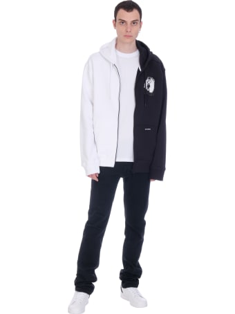 Fred Perry by Raf Simons Sweatshirt In White Cotton