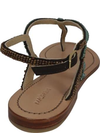 Malìparmi Cuts Beads Flat Shoes