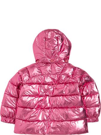 Stella McCartney Kids Pink Shiny Nylon Down Jacket