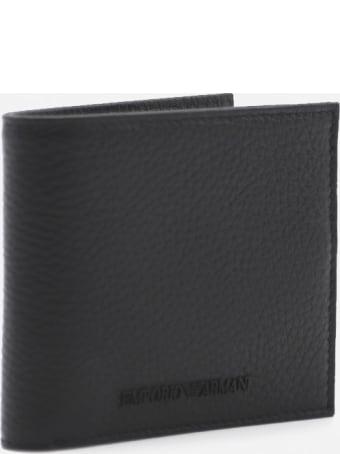 Emporio Armani Leather Wallet With Tone-on-tone Logo Application
