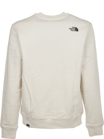 The North Face White Crew With Logo