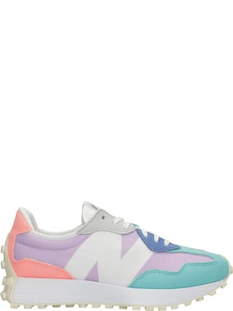 New Balance 327 Sneakers In Multicolor Suede And Fabric