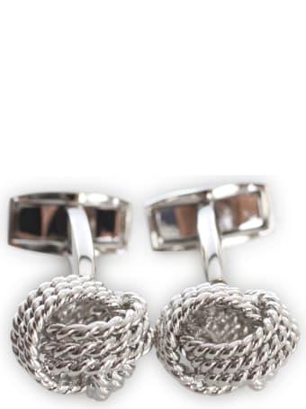 Tateossian Silcolor / Round / Knot Cufflink
