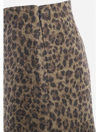Valentino Tweed Shorts With All-over Animal Print