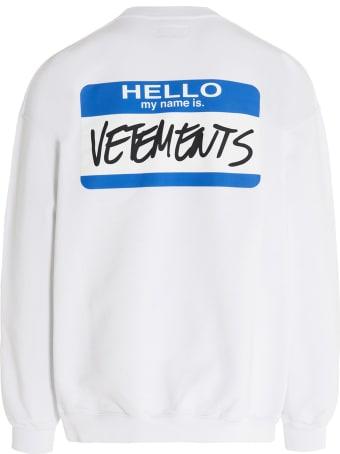 VETEMENTS 'my Name Is Vetements' Sweatshirt