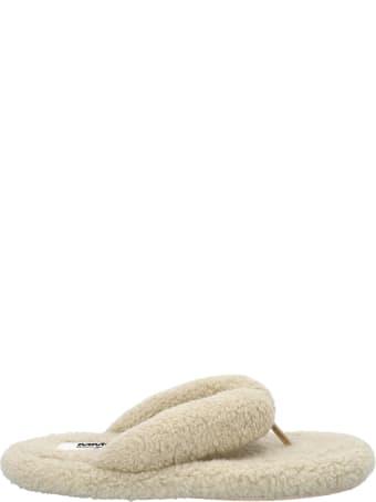 MM6 Maison Margiela Mm6 Teddy Faux-shearling Flip Flops
