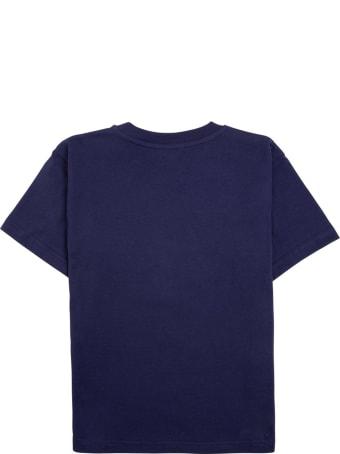 Balenciaga Blue Cotton T-shirt With Print