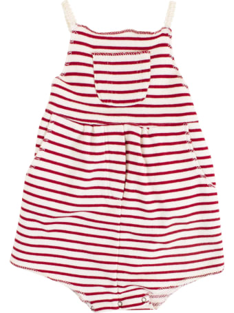 De Cavana Newborn Striped Romper