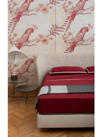 Midsummer Milano Cordonetto Red Bed Set