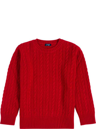 Il Gufo Red Woven Wool Sweater