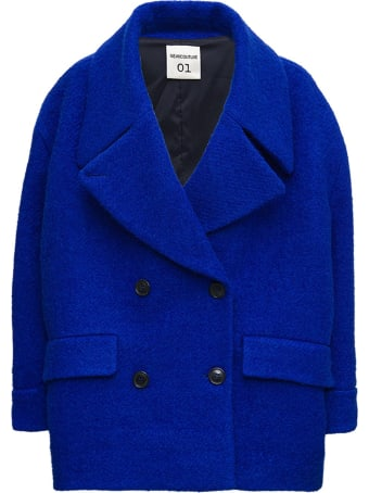 SEMICOUTURE Dominique Double-breasted Coat In Mohair Blend