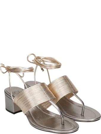 Alexandre Birman Sandals In Gold Leather