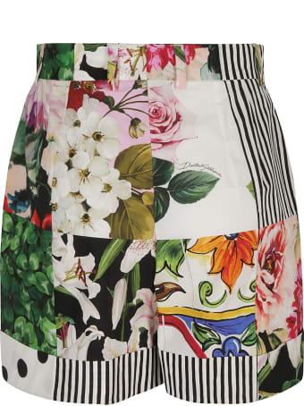 Dolce & Gabbana Multi-print Shorts