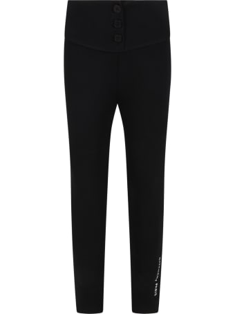 Givenchy Black Leggings For Girl With Logo
