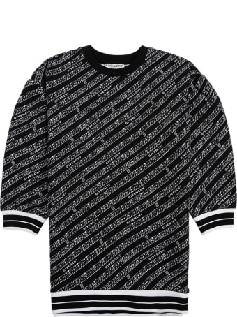Givenchy Cotton Blend Dress With Allvoer Logo Print