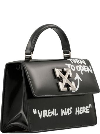 Off-White Shiny Leather Shoulder Bag