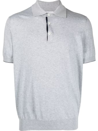 Brunello Cucinelli Grey Cotton Polo Shirt
