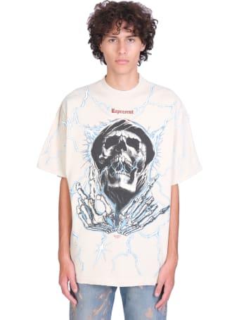 REPRESENT T-shirt In White Cotton