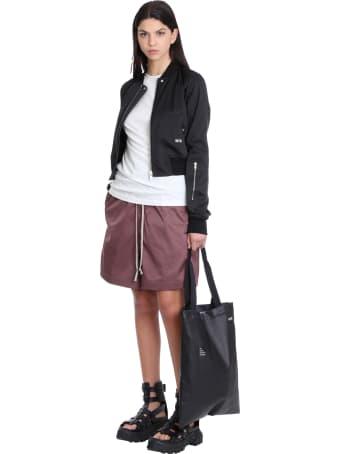 DRKSHDW Faun Shorts In Bordeaux Polyester