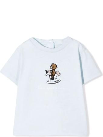 Fendi Light Blue Stretch Cotton T-shirt
