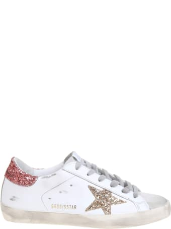 Golden Goose Super Star Sneakers In White Leather