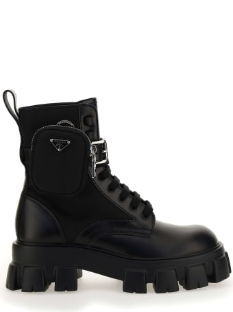 Prada 'monolith' Combat Boots