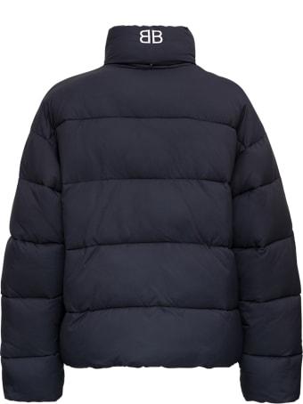Balenciaga Black Quilted High Neck Down Jacket