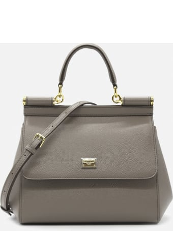 Dolce & Gabbana Mini Sicily Bag In Leather