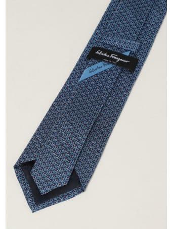 Salvatore Ferragamo Tie Salvatore Ferragamo Silk Tie With Micro Dogs