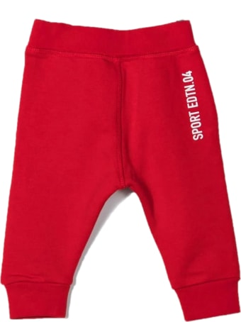 Dsquared2 Red Cotton Track Pants