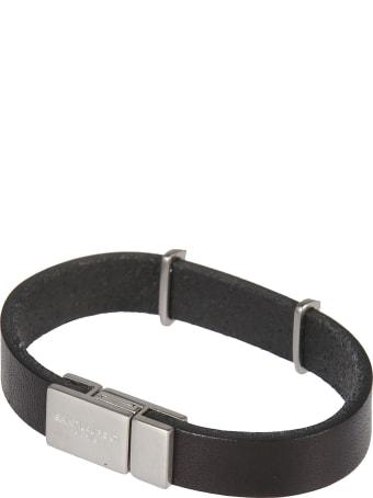 Saint Laurent Metallic Logo Bracelet
