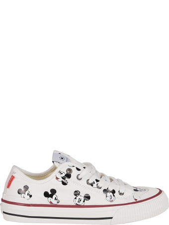 M.O.A. master of arts White Cotton Mickey Mouse Sneakers