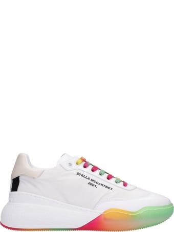 Stella McCartney Loop Recycled Sneakers In White Synthetic Fibers