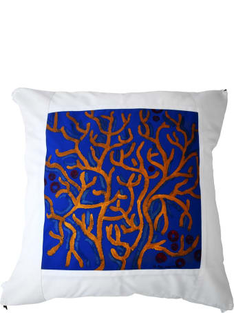 Le Botteghe su Gologone Cotton Hand Painted Indoor Cushion 80x80 cm