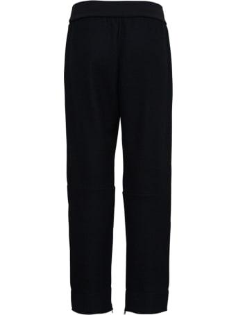 Jil Sander Black Wool Pants With Zip