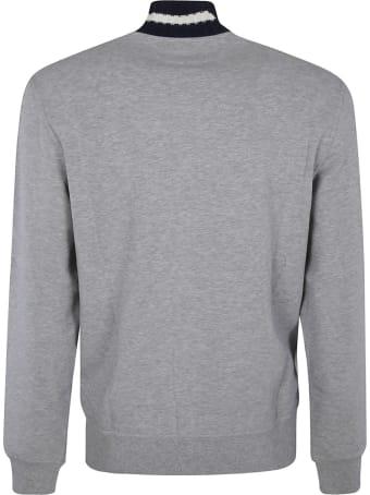 Brunello Cucinelli Knit Collar Zipped Plain Jacket