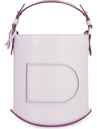 Delvaux Pin Mini Leather Bucket Bag