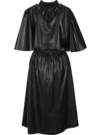 MSGM Eco Leather Midi Dress