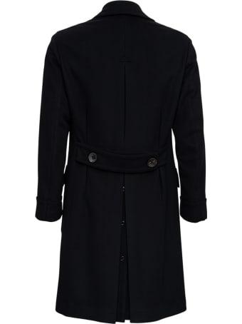 Gabriele Pasini Double-breasted Black Cashmere Coat