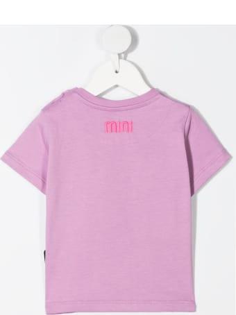 GCDS Mini Pink Embroidered Logo T-shirt