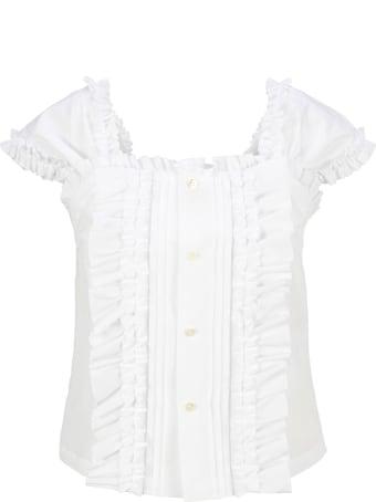 Comme Des Garçons Girl Ruffled Cotton Blouse