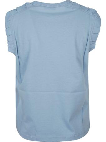 RED Valentino Ruffle Applique Sleeveless T-shirt