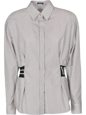 Versace Waist-strap Stripe Detail Shirt