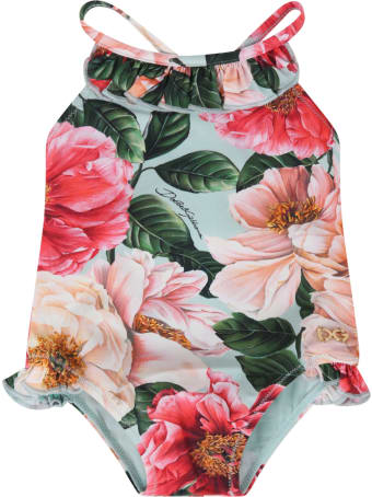 Dolce & Gabbana Multicolor Swimsuit For Babygirl