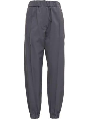 Tela Grey Wool Blend Pants